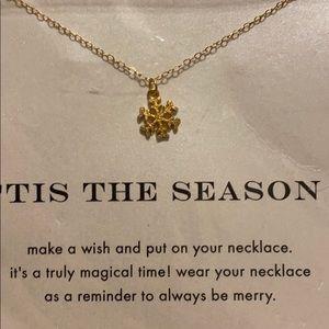 Dogeard 'Tis the Season Snow Flake Necklace
